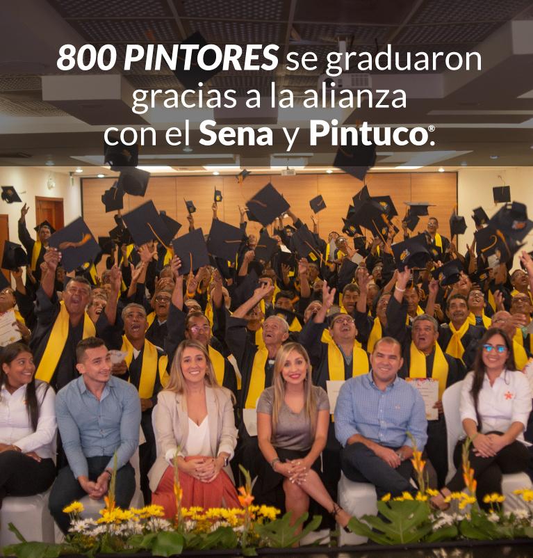 800 pintores se graduaron con Pintuco