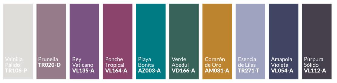 Paleta de colores Esencia Romántica